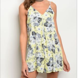 Pants - Lime and Blue Floral Romper